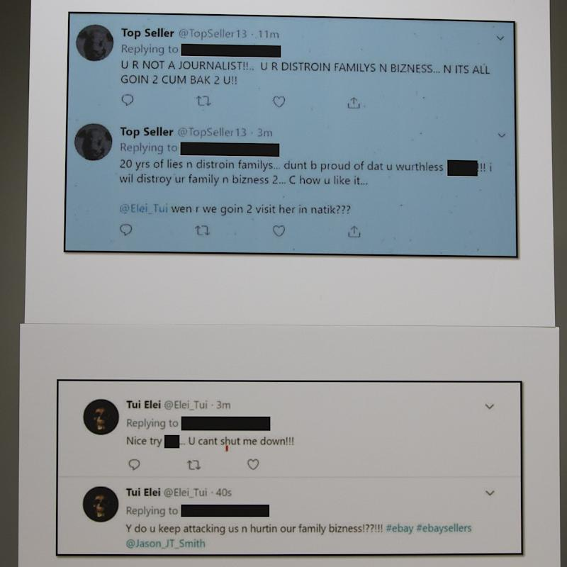 Photo of Twitter messages