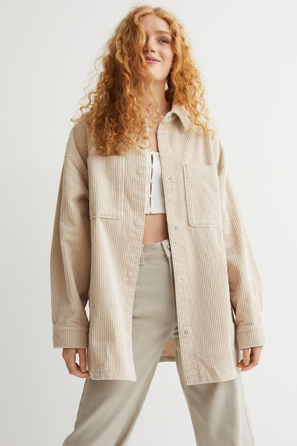 <p>As temperatures slowly start to decline, you'll start reaching for light jackets to fend off the chills. This <span>Shirt Jacket</span> ($34, originally $40) is a great options as it's warm, but also easy to wear.</p>