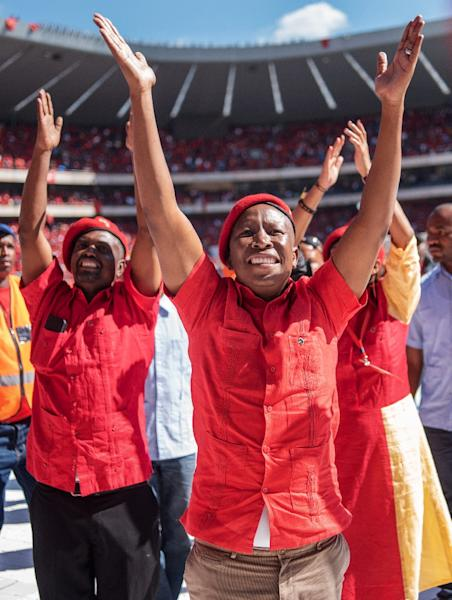 The EFF emerged as South Africa's third biggest party in the 2014 elections, just nine months after it was formed by former ANC youth leader Julius Malema (AFP Photo/Michele Spatari)