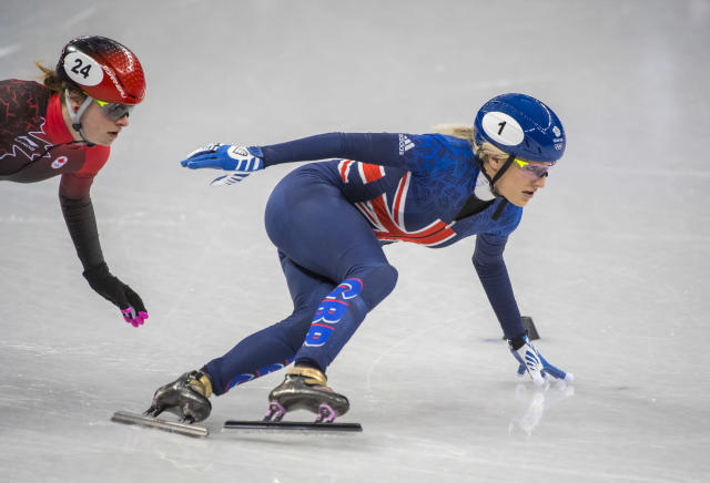 Elise Christie crashed out of the 500m short track final and finished fourth (Andy J Ryan/ TeamGB)
