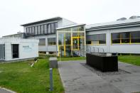 The headquarters of HAHN Automation company are seen in Rheinboellen