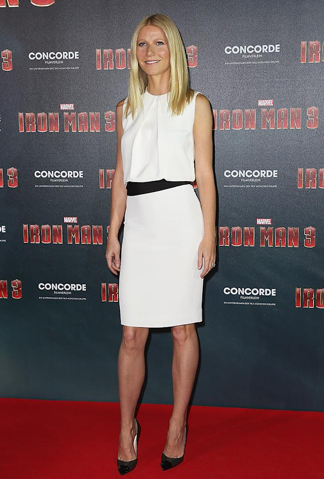 MUNICH, GERMANY - APRIL 12:  Gwyneth Paltrow attends the 'Iron Man 3' Photocall at Hotel Bayerischer Hof on April 12, 2013 in Munich, Germany.  (Photo by Dominik Bindl/Getty Images)
