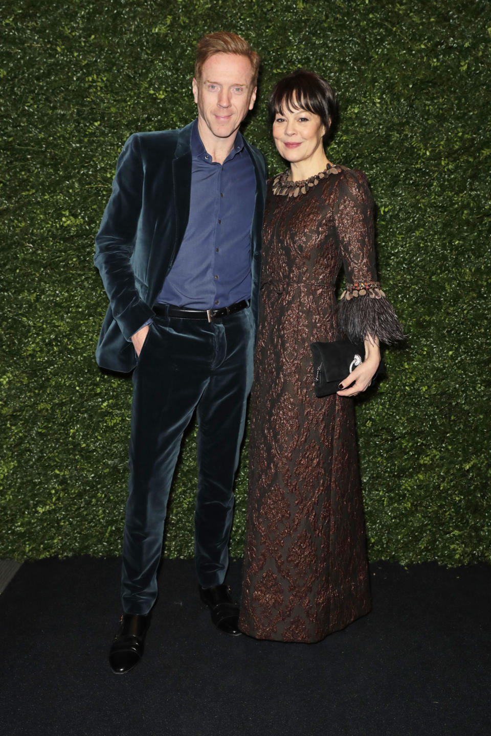 LONDON, ENGLAND - FEBRUARY 01:    Damian Lewis and Helen McCrory arrive at the Charles Finch & CHANEL Pre-BAFTA Party at 5 Hertford Street on February 1, 2020 in London, England.  (Photo by David M. Benett/Dave Benett/Getty Images)