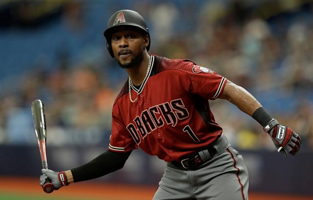 """<a class=""""link rapid-noclick-resp"""" href=""""/mlb/players/8817/"""" data-ylk=""""slk:Jarrod Dyson"""">Jarrod Dyson</a> can provide steals for cheap when they're so scarce in fantasy right now. (AP Photo/Chris O'Meara)"""