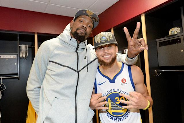 Behind Kevin Durant and Stephen Curry, the Warriors look poised to make a dynastic run. (Getty)