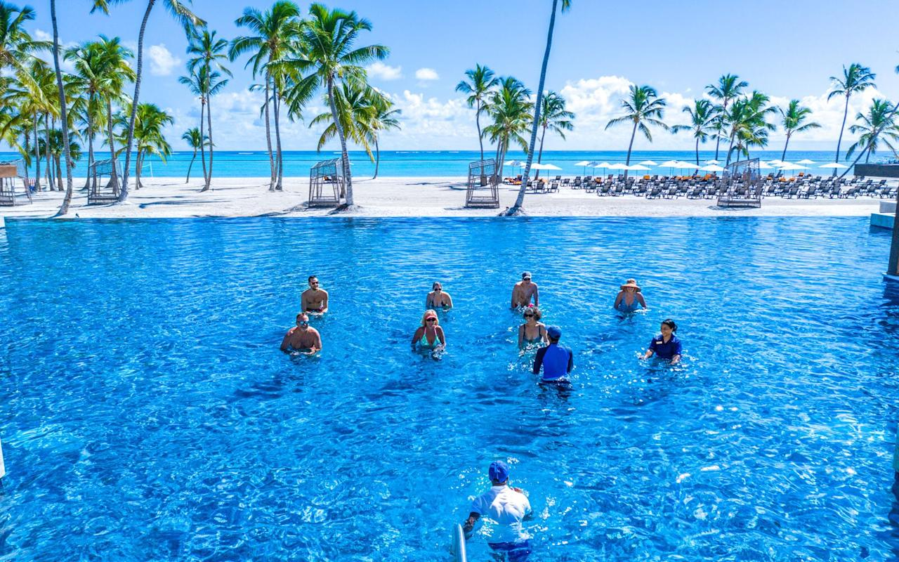 """<p><a href=""""http://www.resortsbyhyatt.com/ziva-cap-cana"""">This all-inclusive resort</a> on the shores of Cap Cana's Juanillo Beach is not only family-friendly, it's brand-new. The Hyatt Ziva opened in December 2019, so guests will be treated to sparkling new everything — and that includes the property's incredible amenities. Kids will love the water park — hello lazy river and slides — while adults can explore the resort's sprawling infinity pools and swim-up bars.</p> <p>Guests also have access to the adults-only Hyatt Zilara Cap Cana, the Hyatt Ziva Cap Cana's sister property — making the property perfect for groups with a range of ages and interests or multi-generational families.</p>"""