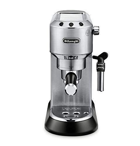 """<p><strong>De'Longhi</strong></p><p>amazon.com</p><p><strong>$379.95</strong></p><p><a href=""""https://www.amazon.com/dp/B072WZL4ZT?tag=syn-yahoo-20&ascsubtag=%5Bartid%7C10067.g.33076816%5Bsrc%7Cyahoo-us"""" rel=""""nofollow noopener"""" target=""""_blank"""" data-ylk=""""slk:Shop Now"""" class=""""link rapid-noclick-resp"""">Shop Now</a></p><p>""""Normally I'm against the idea of purchasing my own espresso maker, because nothing will ever compare to the rich and creamy espresso made from a professional-grade machine at an Italian cafe. This DeLonghi machine changed the game for me. The espresso is near perfect and it's one of the smallest (most apartment friendly) models I've seen.""""—<em>Lucia Tonelli, Assistant Editor</em></p>"""