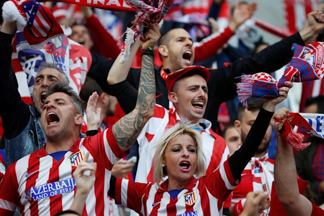 Soccer Football - Europa League Final - Olympique de Marseille vs Atletico Madrid - Groupama Stadium, Lyon, France - May 16, 2018 Atletico Madrid fans inside the stadium before the match REUTERS/Gonzalo Fuentes