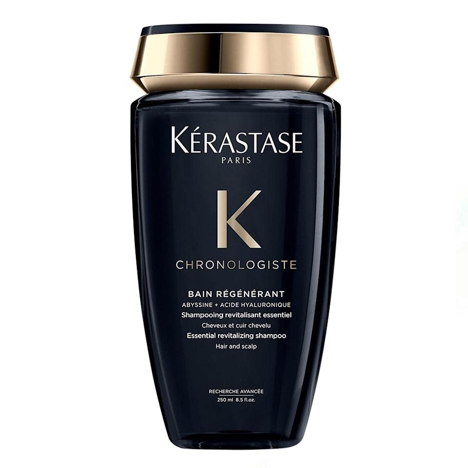 "By eleventh month of not having my hair cut, it was time I turned to the big guns for all the breakage and damage I was experiencing, and that's where this shampoo came in. Kérastase's Chronologiste line is the ultimate for all-around revitalizing sad, dull, brittle hair. Chalk it up to skin care–like properties in the formula: hydrating hyaluronic acid, reparative abyssine, and nourishing vitamin E go to work to transform your hair. Bonus: It smells like heaven. —<em>L.S.</em> $38, Kérastase. <a href=""https://shop-links.co/1734339607820338993"" rel=""nofollow noopener"" target=""_blank"" data-ylk=""slk:Get it now!"" class=""link rapid-noclick-resp"">Get it now!</a>"