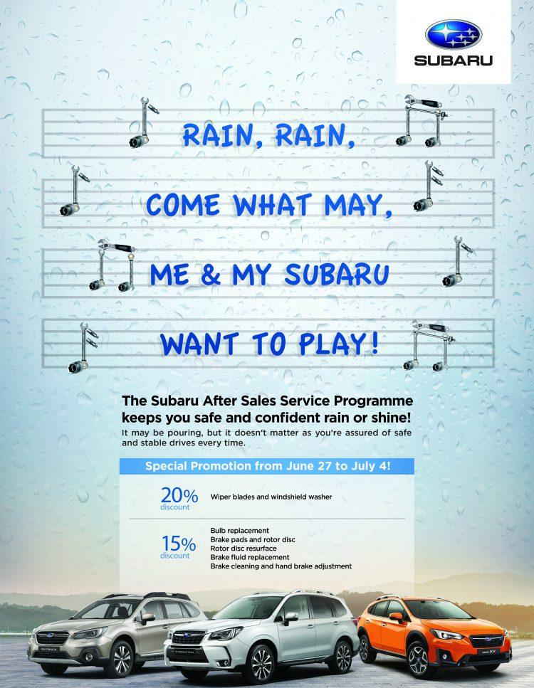 Subaru Rainy Days Promo