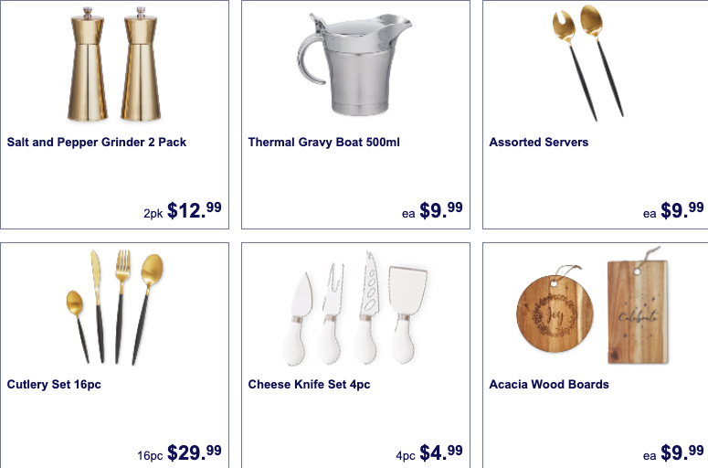 Kitchen cutlery and accessories on sale as Special Buys at Aldi.