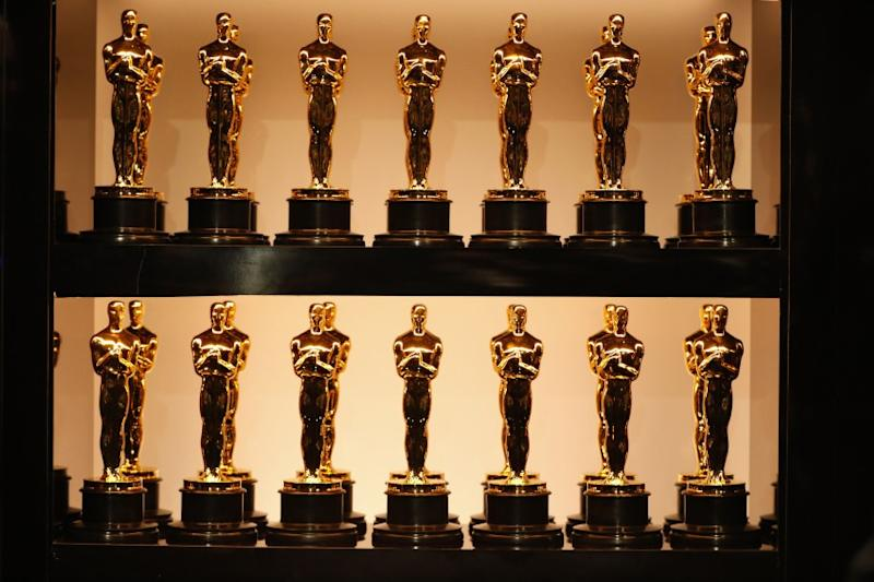 Oscar statues backstage at the 90th Academy Awards on Sunday, March 4, 2018 at the Dolby Theatre at Hollywood & Highland Center in Hollywood, CA.