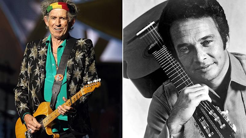 Keith Richards Joins All-Star Merle Haggard Tribute