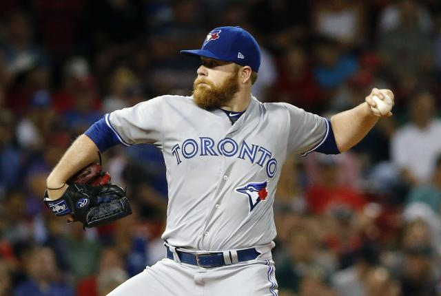 The Blue Jays got some solid starts out of Brett Anderson down the stretch. (Michael Dwyer/AP)