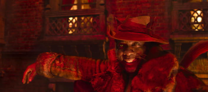 """This image released by Universal Pictures shows Idris Elba as Macavity in a scene from """"Cats."""" (Universal Pictures via AP)"""