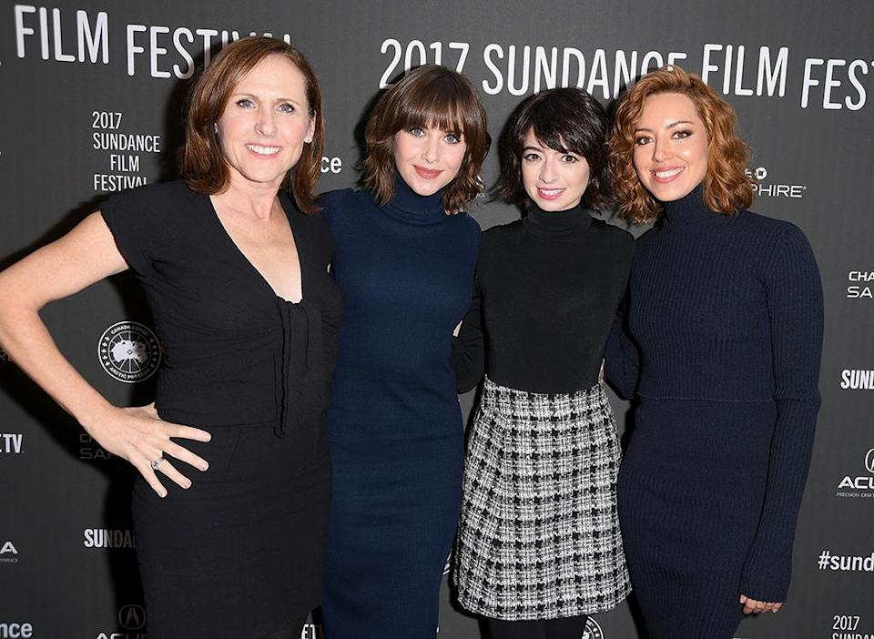 <p>'The Little Hours' cast mates pose together at the premiere. (Photo: George Pimentel/Getty Images) </p>