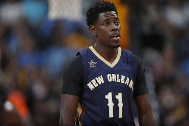 "<a class=""link rapid-noclick-resp"" href=""/nba/players/4622/"" data-ylk=""slk:Jrue Holiday"">Jrue Holiday</a> is a rich man. (AP)"