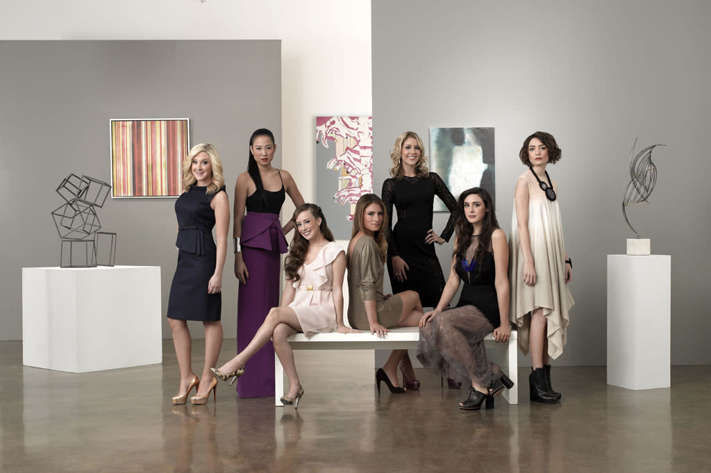 """Bravo's """"Gallery Girls"""" follows the lives of seven dynamic and ambitious young women in New York City who tackle the cutthroat environment of the art world while vying for their dream jobs."""