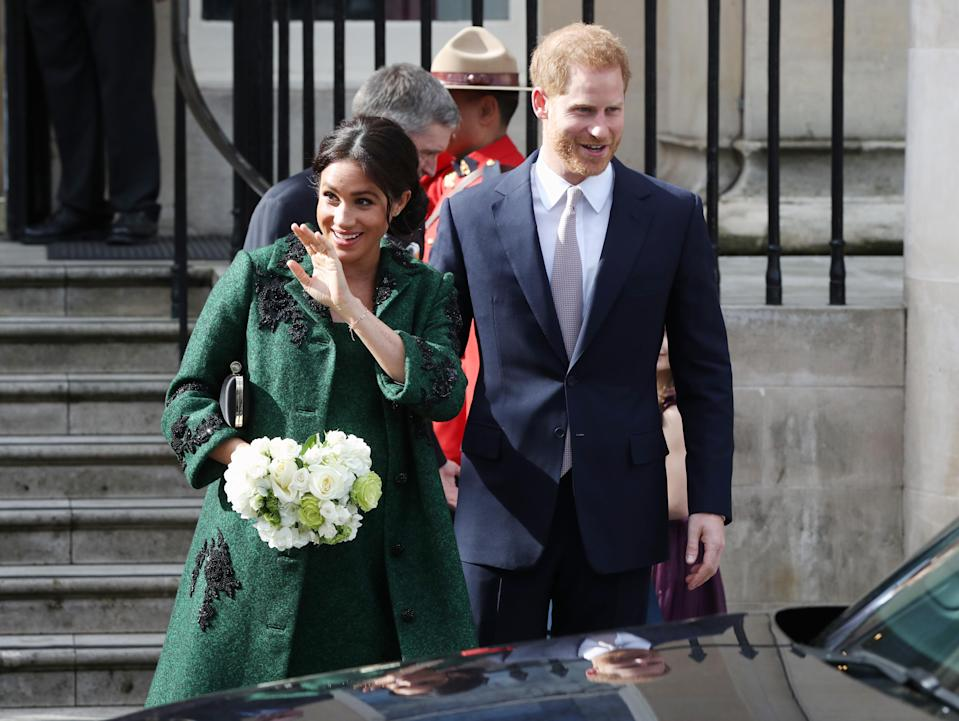Meghan, pictured at Canada House, reportedly won't give birth at the Lindo Wing [Photo: PA]