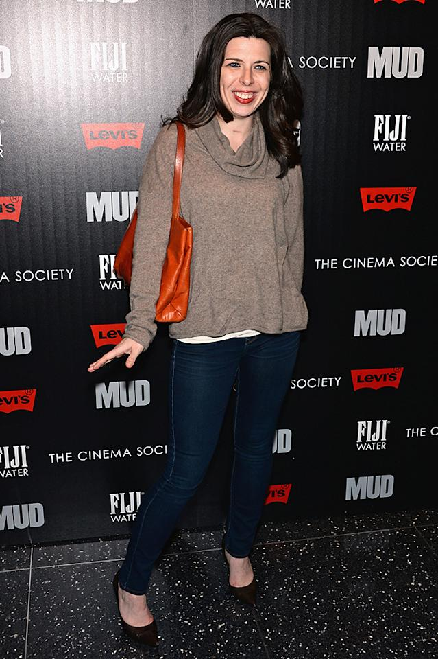 "NEW YORK, NY - APRIL 21:  Actress Heather Matarazzo attends The Cinema Society With FIJI Water & Levi's screening of ""Mud"" at The Museum of Modern Art on April 21, 2013 in New York City.  (Photo by Dimitrios Kambouris/Getty Images)"