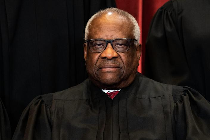 """Associate Justice Clarence Thomas called Supreme Court decisions on abortion """"grievously wrong."""""""