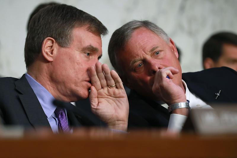 Richard Burr, right, and Mark Warner
