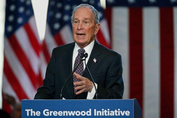 PHOTO: Democratic presidential candidate Michael Bloomberg speaks at the Greenwood Cultural Center in Tulsa, Okla., Sunday, Jan. 19, 2020. (Sue Ogrocki/AP)