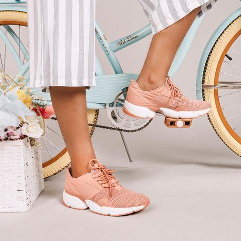 """<p>Sustainably made (out of recycled water bottles), celeb-loved (Aubrey Plaza, Nina Dobrev and Olivia Munn are fans) and founded by two Taiwanese-American sisters, Avre is the ultimate feel-good shoe — both because you're supporting women, the AAPI community and the environment when you buy a pair, <em>and </em>because they're super comfy.</p> <p><strong>Buy It! </strong>Avre Infinity Glide, $145; <a href=""""https://avrelife.com/collections/shoes/products/infinity-glide-03-blush-white"""" rel=""""sponsored noopener"""" target=""""_blank"""" data-ylk=""""slk:avrelife.com"""" class=""""link rapid-noclick-resp"""">avrelife.com</a></p>"""