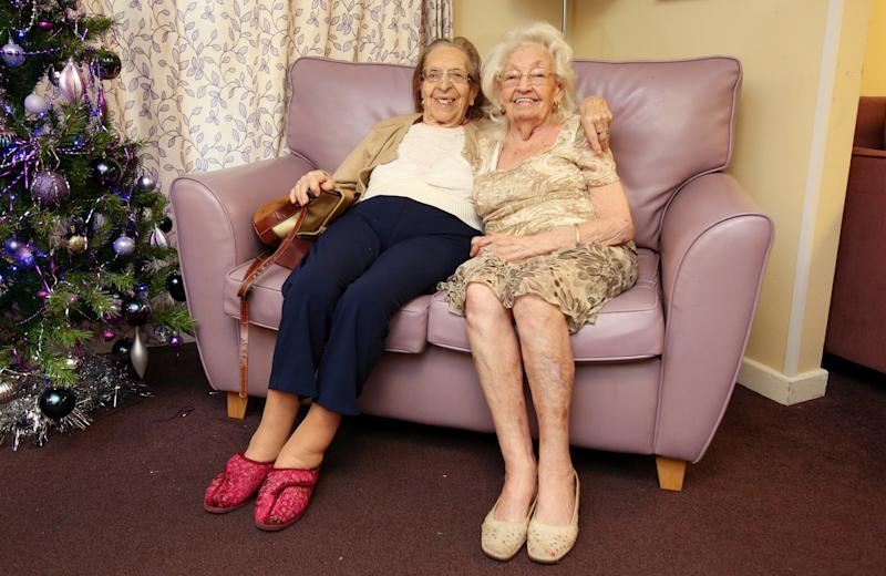 Olive Woodward, left, and Kathleen Saville met in 1941 and have been friends ever since.