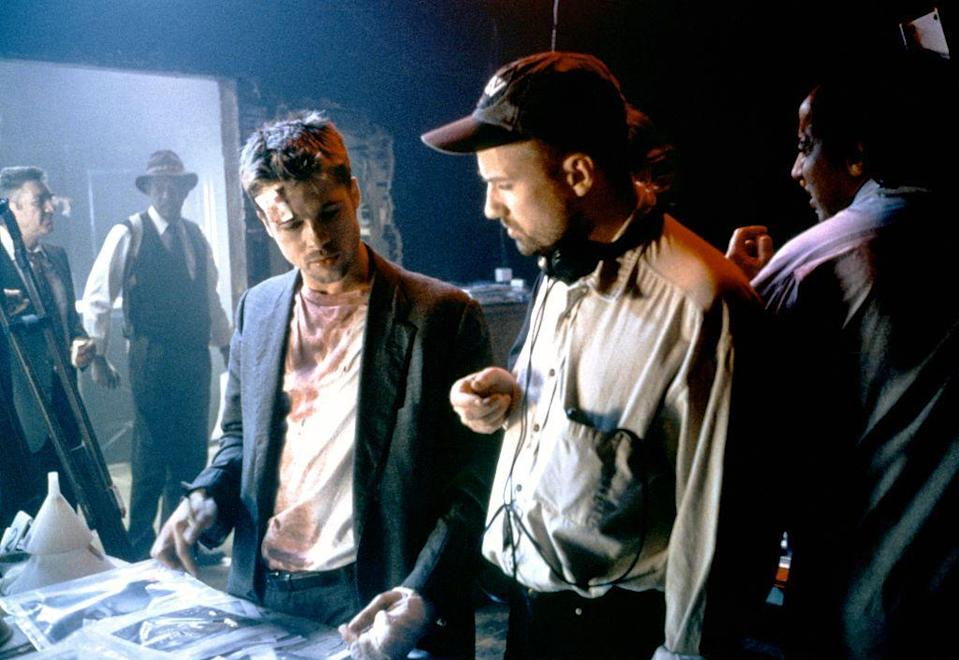 """<p>The mid-nineties were huge for Pitt. His next film, <em>Se7en</em>, with David Fincher was another success. Pitt delivered the iconic line, """"What's in the box?"""" in the movie.</p>"""