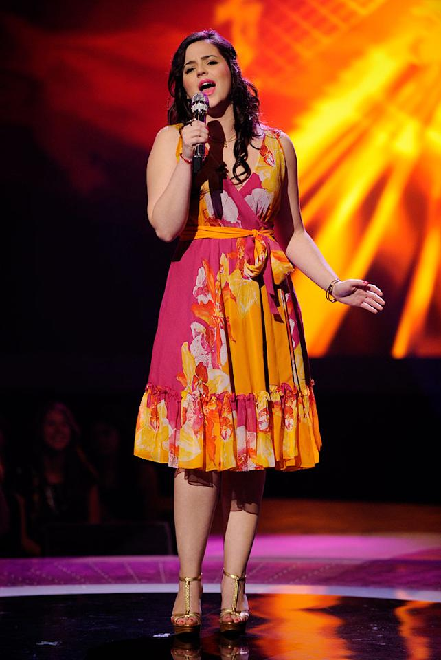 "Tatiana Nicole Del Toro performs ""Saving All My Love for You"" by Whitney Houston on ""American Idol."""
