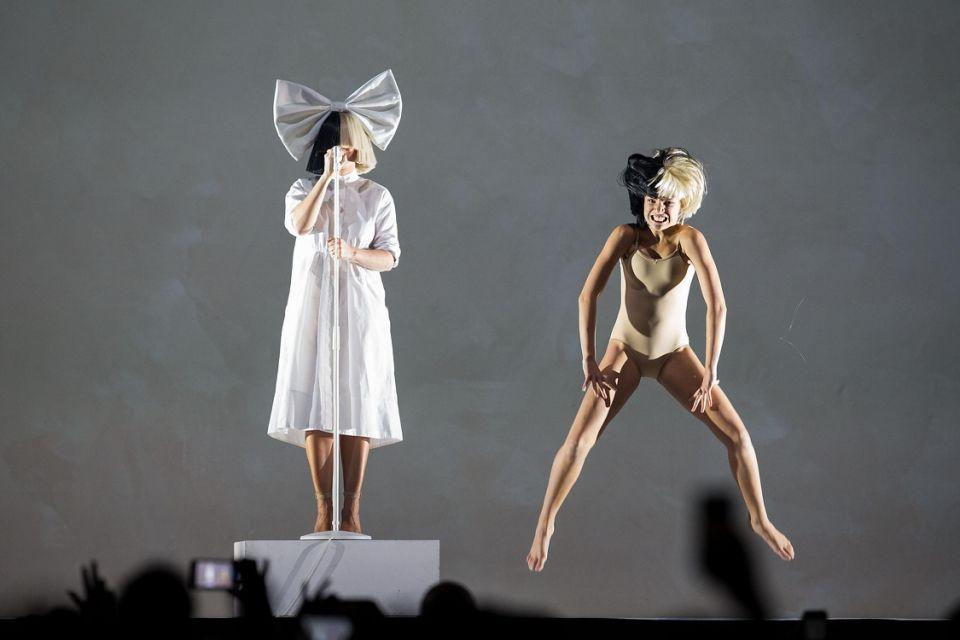 The dancer's leotard broke while on stage with Sia! Source: Getty