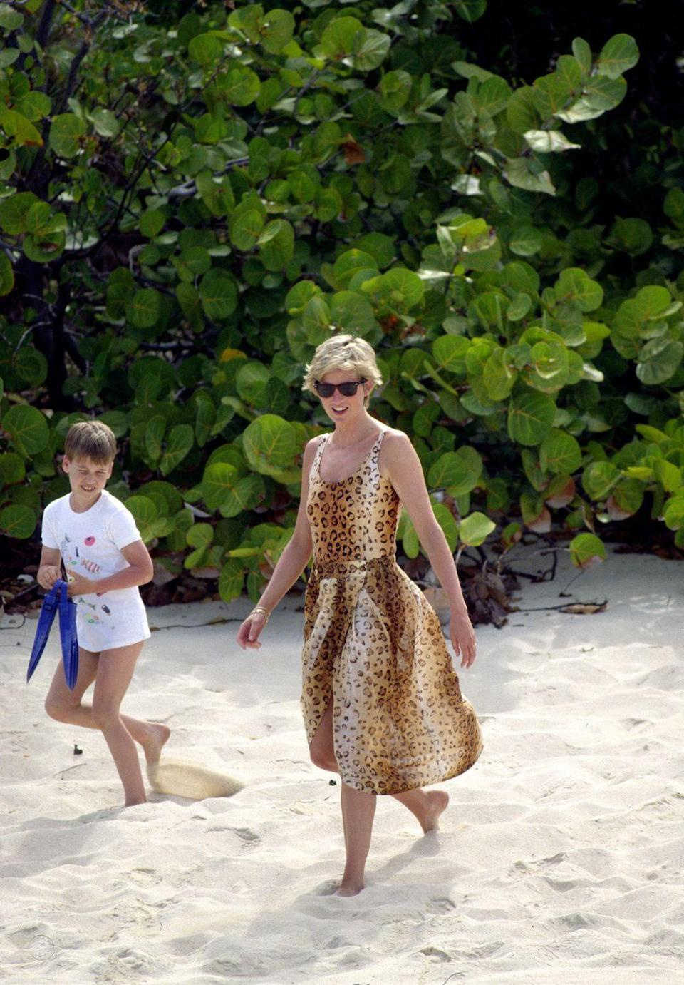 <p>This flowy cheetah print dress feels current right now.</p>