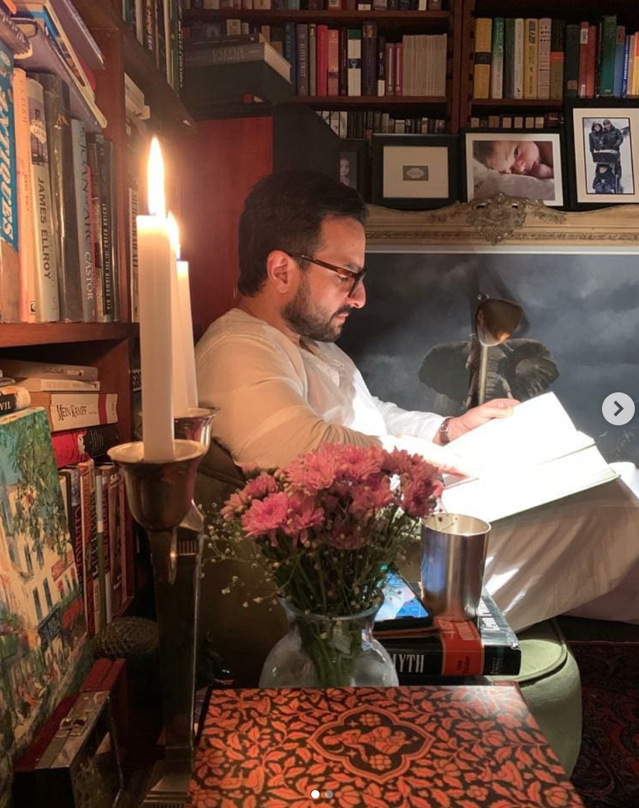 What books does Saif Ali Khan have in his library