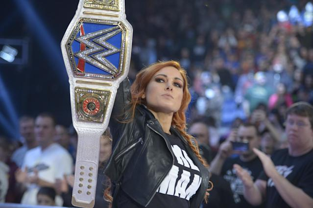 "WWE star Becky Lynch has become the hottest commodity in professional wrestling, thanks to the development of her character, ""The Man."" (Photo Courtesy of WWE)"