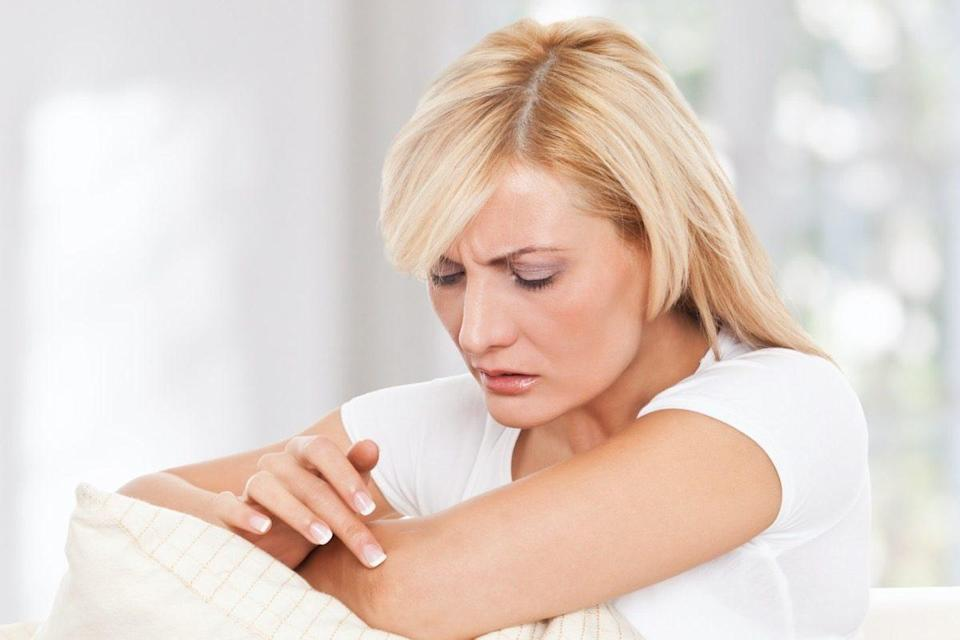 woman worrying about her skin
