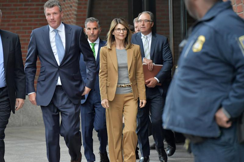 BOSTON, MA - APRIL 03: Lori Loughlin exits the John Joseph Moakley U.S. Courthouse after appearing in Federal Court to answer charges stemming from college admissions scandal on April 3, 2019 in Boston, Massachusetts. (Photo by Paul Marotta/Getty Images)