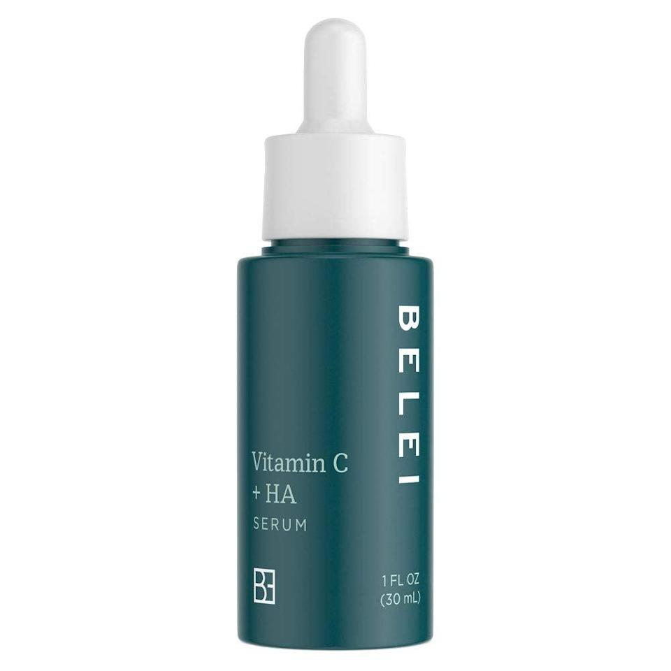 """<h3><h2>Vitamin C + HA Serum</h2></h3><br>""""I have dry skin that's not usually prone to breakouts but needs lots of moisture to keep it in check. Vitamin E and botanical face oil are a part of my daily routine. I don't currently use a serum but I do add a blended <a href=""""https://www.amazon.com/Vitabrid-Vitamin-face-brightening-powder/dp/B01MFC2Q8C"""" rel=""""nofollow noopener"""" target=""""_blank"""" data-ylk=""""slk:Vitamin C powder"""" class=""""link rapid-noclick-resp"""">Vitamin C powder</a> (from <a href=""""https://www.amazon.com/Vitabrid-Vitamin-face-brightening-powder/dp/B01MFC2Q8C"""" rel=""""nofollow noopener"""" target=""""_blank"""" data-ylk=""""slk:Vitabrid"""" class=""""link rapid-noclick-resp"""">Vitabrid</a>) to my moisturizer for skin brightening. This Belei Vitamin C + HA product is meant to be applied sparingly at night for brighter, hydrated skin. Even though I was only using a small amount, I did not love the feeling of it on my face. It left a slightly tacky feel, not luxurious or smooth or especially hydrated. It was alright since it's meant to be added right before you go to bed, but I still wasn't thrilled with it. After three weeks my skin didn't look any better or worse for using the product. It barely had any scent (bonus in my books) and did not irritate my skin. Not a glowing review for this one — I'd say it's just fine and likely better for someone who already uses a similar serum and might want to try out a new option at a lower price."""" - Marissa Rosenblum, VP Affiliate & Consumer Products <br><br><strong>Belei</strong> Vitamin C + Hyaluronic Acid Serum, $, available at <a href=""""https://amzn.to/3q6vfLj"""" rel=""""nofollow noopener"""" target=""""_blank"""" data-ylk=""""slk:Amazon"""" class=""""link rapid-noclick-resp"""">Amazon</a>"""