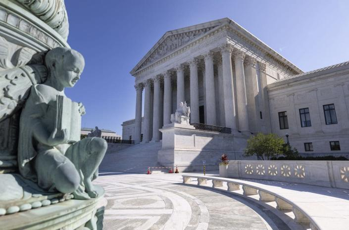 """<span class=""""caption"""">How much importance does the Supreme Court place on prior decisions?</span> <span class=""""attribution""""><a class=""""link rapid-noclick-resp"""" href=""""https://www.gettyimages.com/detail/news-photo/the-u-s-supreme-court-is-seen-on-september-02-2021-in-news-photo/1337858328"""" rel=""""nofollow noopener"""" target=""""_blank"""" data-ylk=""""slk:Kevin Dietsch/Getty Images"""">Kevin Dietsch/Getty Images</a></span>"""