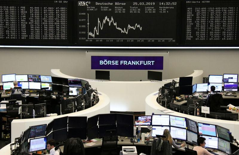 The German share price index DAX graph is pictured at the stock exchange in Frankfurt, Germany, March 25, 2019. REUTERS/Staff