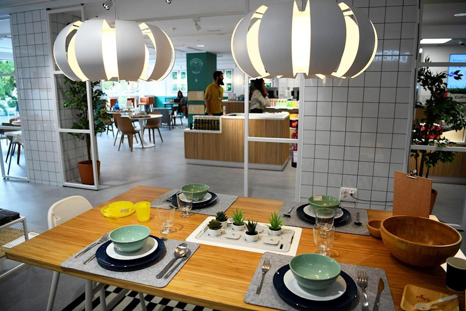 Interior of an Ikea in Madrid city center