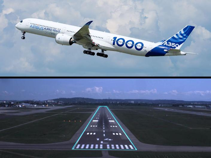 Airbus A350 Autonomous taxi, takeoff, and landing