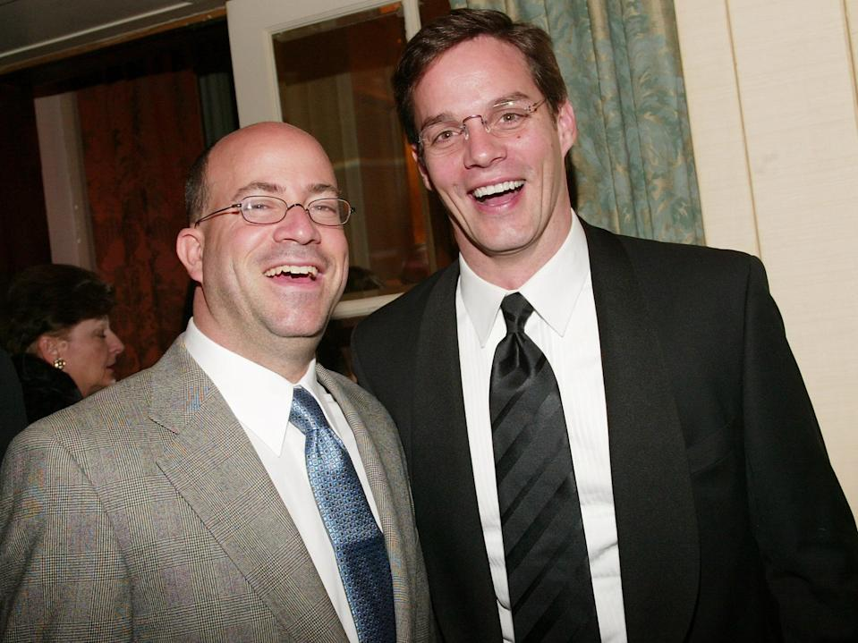 Jeff Zucker, NBC Entertainment, News and Cable President and CNN news anchor Bill Hemmer attend The Museum of Television and Radio's annual gala, this year honoring NBC News anchor Tom Brokaw, on February 19, 2004 at the Waldorf-Astoria Hotel, in New York City.