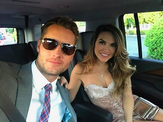 "<p>""Leaving from the set headed to #ThisIsUs event!"" wrote the TV star, while sitting next to his lovely fiancée, Chrishell Stause. ""We're finally back and we owe you all so much for taking the time to watch us."" (Photo:<a href=""https://www.instagram.com/p/BZhpdm5BawD/?taken-by=justinhartley"" rel=""nofollow noopener"" target=""_blank"" data-ylk=""slk:Justin Hartley via Instagram"" class=""link rapid-noclick-resp""> Justin Hartley via Instagram</a>) </p>"
