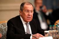 Russia's Foreign Minister Lavrov attends the Afghan peace conference in Moscow