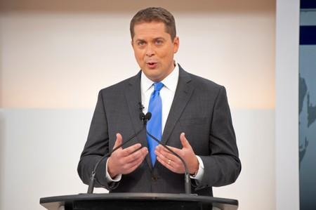 Conservative leader Andrew Scheer speaks during a debate hosted by Macleans/Citytv in Toronto