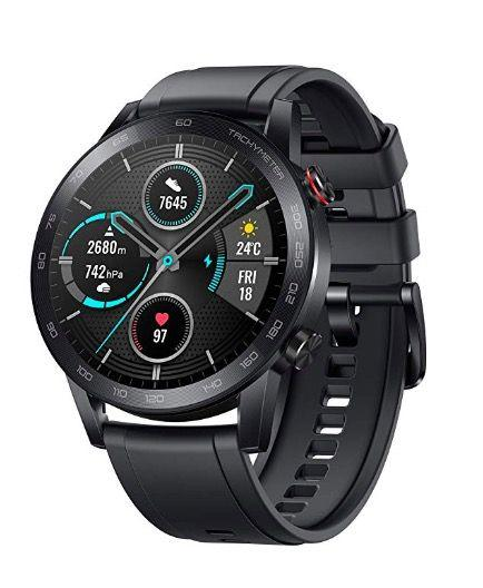 """<p><a class=""""body-btn-link"""" href=""""https://www.amazon.co.uk/HONOR-MagicWatch-Activity-Exercise-Microphone/dp/B082PCP6KT?tag=hearstuk-yahoo-21&ascsubtag=%5Bartid%7C1930.g.33751104%5Bsrc%7Cyahoo-uk"""" target=""""_blank"""">SHOP</a></p><p><strong>Best for: </strong>Android users<br></p><p>Apple users haven't got to think too hard about their choice of smartwatch. It's not so simple for Android users: the smartwatch world is basically the Apple Watch, then everything else for non-iOS users. The latest entry into that busy market floor is the Honor Magic Watch 2. <br><br>This super-slim, pleasingly-designed sports watch features an excellent battery life, lasting two weeks on one charge, and a full menu of features including Bluetooth calls, music playback, sleep, stress and heart rate monitoring, alongside GPS tracking. Its water resistance (to 50m) and lack of bulk make it an excellent fitness monitor. All this, plus an 'always on' display, which levels the playing field with those smug Apple Watch Series 5 owners.<br><br>Honor Watch Magic 2; £139.99; <a href=""""https://www.amazon.co.uk/HONOR-MagicWatch-Activity-Exercise-Microphone/dp/B082PCP6KT"""" target=""""_blank"""">amazon.co.uk</a><br><br></p>"""