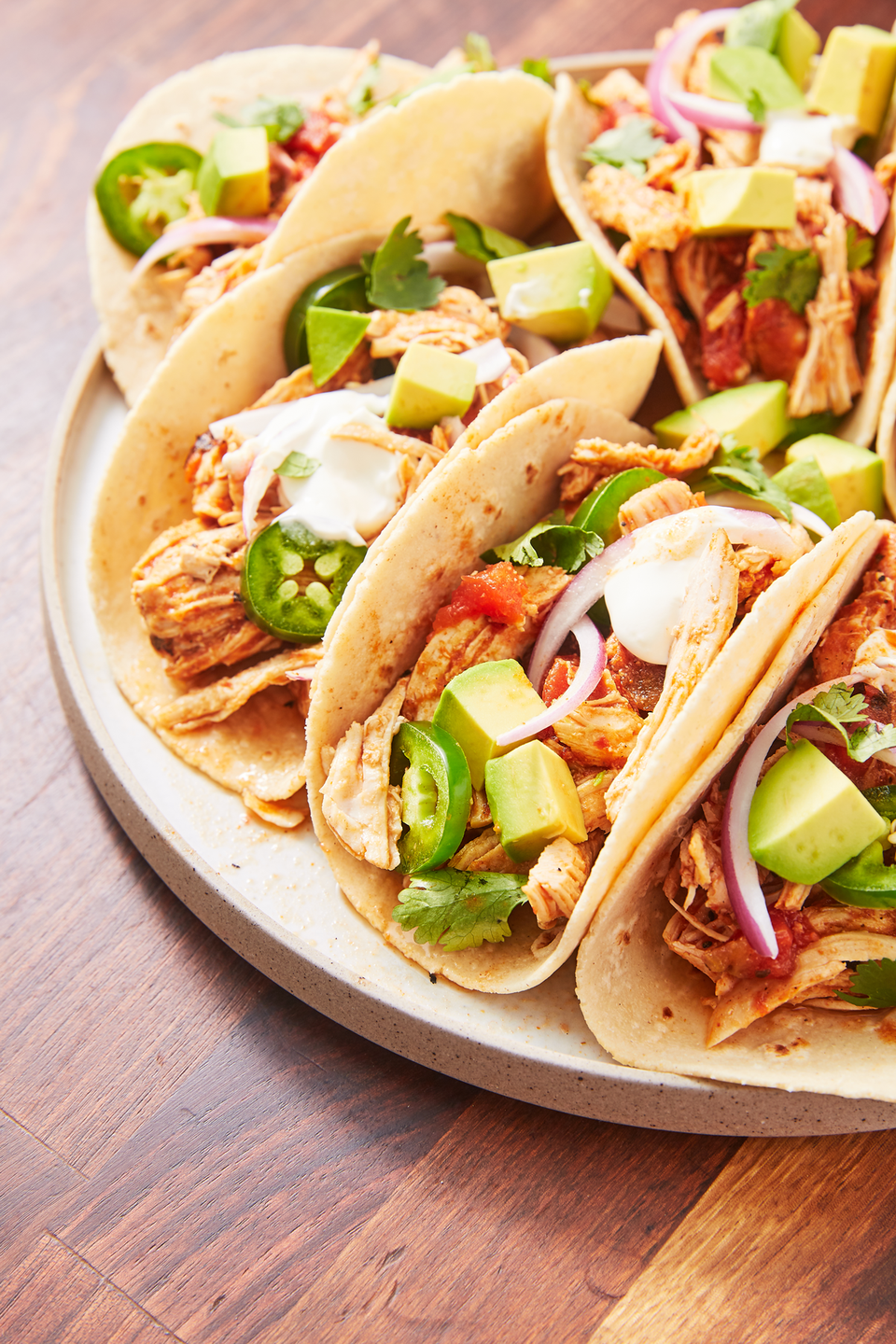 "<p>If we knew the Instant Pot could turn out delicious, juicy chicken taco filling, we would have bought one a lot sooner. </p><p>Get the recipe from <a href=""https://www.delish.com/cooking/recipe-ideas/a27044360/instant-pot-chicken-tacos-recipe/"" rel=""nofollow noopener"" target=""_blank"" data-ylk=""slk:Delish"" class=""link rapid-noclick-resp"">Delish</a>.</p>"