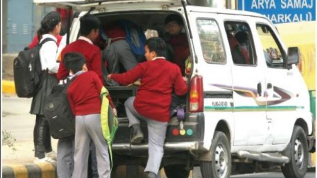 Government authorities mute as 60 percent of schoolchildren in Capital take illegal private vehicles and face accident risk, reveals survey by parents' body.