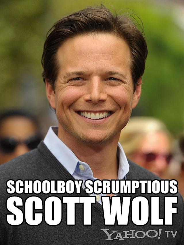 "<strong>Scott Wolf</strong><br><br>When we hear the word ""cute,"" we see Wolf. We can't believe that ""<a href=""http://tv.yahoo.com/shows/party-of-five/"" data-ylk=""slk:Party of Five"" class=""link rapid-noclick-resp"">Party of Five</a>"" aired, like, a hundred years ago. Wolf has clearly spent time in some sort of magical antiwrinkling human storage tube. He definitely looks good enough to eat, and more than good enough to reunite with Jennifer Love Hewitt's hands-on <em>professional</em> on ""<a href=""http://tv.yahoo.com/shows/the-client-list/"" data-ylk=""slk:The Client List"" class=""link rapid-noclick-resp"">The Client List</a>."" We can picture him at the Rub ... the lights dim, his shirt comes off button by button, his pants unzip -- wait. Is this stuff being published online or something?"